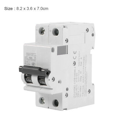 New White 2P MCB Low-voltage Miniature Air Circuit Breaker 250V DC 16A/32A/63A