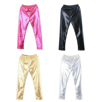 US Girls Kid Leggings Stretch Trousers Toddler Baby Child Long Pants Trousers
