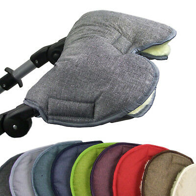 Bambiniwelt Pushchair Muff Stroller-Gloves Hand Warmer Melted Wool