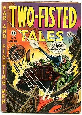 Two-Fisted Tales #27 1952- Kurtzman cover- EC golden age war VG