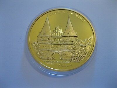 "Medaille  ""Holstentor in Lübeck""  PP  in Münzkapsel"