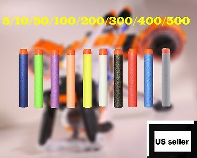 New Refill Foam Bullet Darts Blasters For NERF N-Strike Elite Kids Toy Gun US