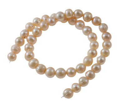 "14"" WHITE/CREAM CULTURED FRESHWATER PEARLS POTATO SHAPE JEWELLERY MAKING  7-8 mm"