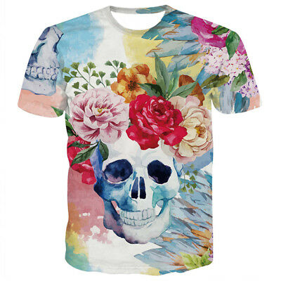 Fashion Womens  Mens Skull Zbrush Skeleton Print 3D T-Shirt Casual Short  Sleeve Christmas gift store bbe01dee4b