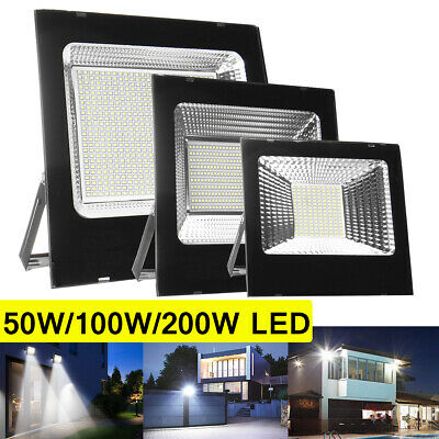30W 50W 100W 150W 200W LED Flood Light Outdoor Security Lights Garden Lamp 220V
