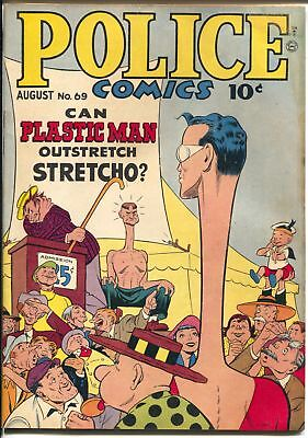 Police #69 1947-Quality-Plastic Man-Spirit Jack Cole art-Manhunter-VG