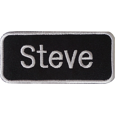 Steve Iron On Patch Sew On Clothes T Shirt Jacket Bag Name Tag Embroidered Badge