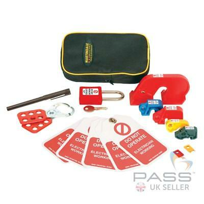 Martindale Lockout Kit - Incl. Padlock, Hasp, MCB Lockouts, Tags & More!