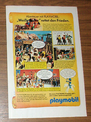 Seltene Werbung PLAYMOBIL Western Fort Randall Indianer Klicky Story 1982