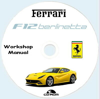 Workshop Manual Ferrari F12 Berlinetta ,manuale riparzioni