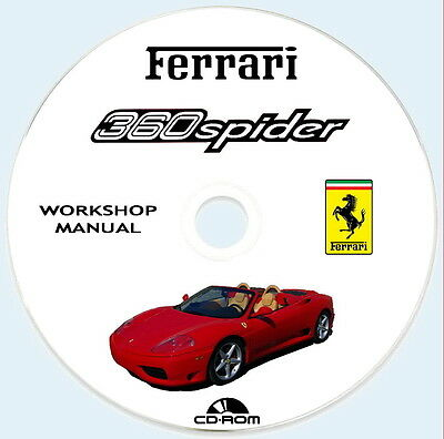 Workshop Manual Ferrari 360 Spider,Istruzioni Riparazioni + Wiring Diagram