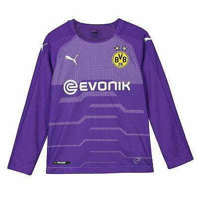 BVB Borussia Dortmund Official Third Goalkeeper Shirt 2018-19 Kids Puma Football