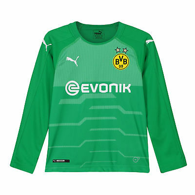 BVB Borussia Dortmund Official Away Goalkeeper Shirt 2018-19 Kids Puma Football