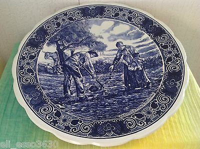 Assiette Murale Faience De Delft Decor Moulin 23 2 Cm Eur 15 99