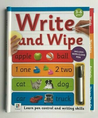 Wipe Clean Fun Learning Writing Alphabet Numbers Workbook & Pen Children Age 3+
