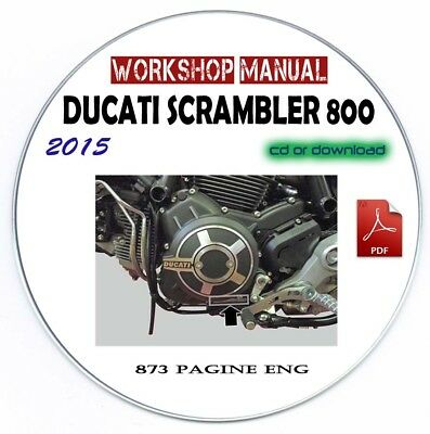 Manuale Officina Ducati Scrambler 800 2015 Workshop Manual Service Repair