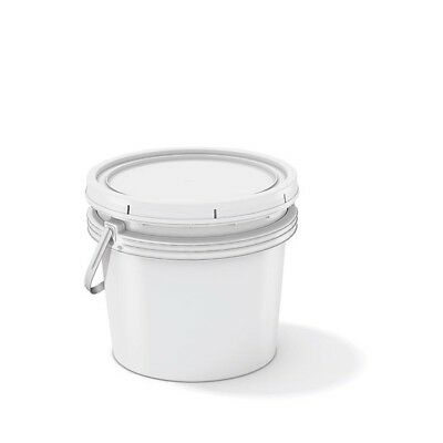 White Polypropylene 3 Gallon/11l Bucket with Handle