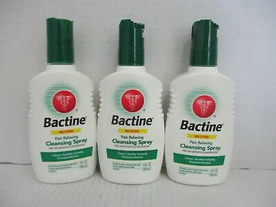 3 Bactine No-Sting Pain Relieving Cleansing Spray 5 Oz Each Exp 7/18+ De 5510
