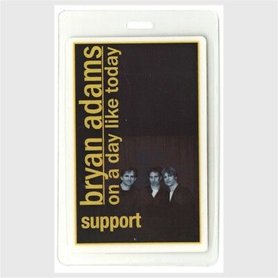 Bryan Adams memorabilia 1998 Laminated Backstage Pass On a Day Like Today Tour