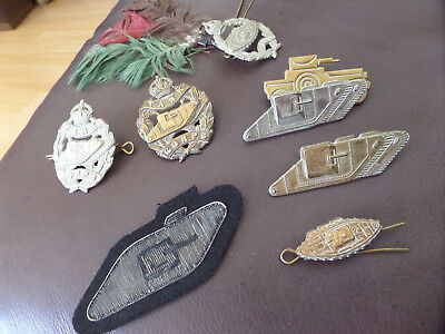 Collection of Royal Tank Corps Tankers Regiment Cap Badges All BRASS