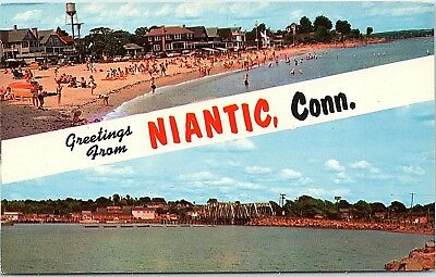 Niantic ct crescent beach postcard 1950s 299 picclick ct postcard greetings from niantic conn crescent beach bay railroad bridge sciox Choice Image
