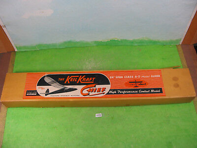 VINTAGE KEILKRAFT MODEL aircraft chief 64'' boxed rc kit 2222