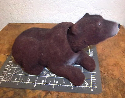 NEW fuzzy GRIZZLY BEAR Bobble head, 6 inches long, very nice collectible