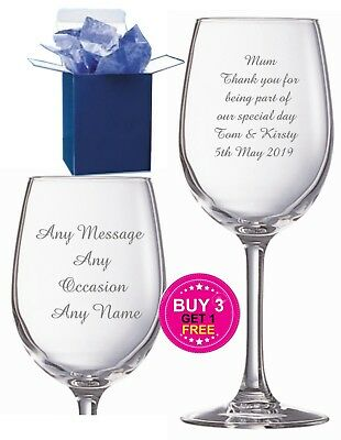 Personalised Wine Glass Engraved Teacher Gift, Godmother Gifts, Thank You Gifts