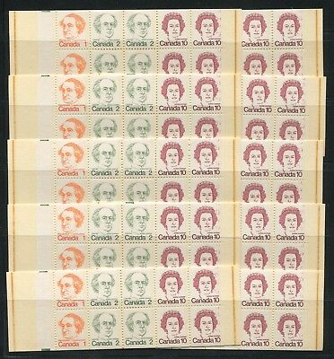 """CANADA COMPLETE BOOKLETS BK76c MINT SET OF 10 VF 'REPEATING 10s"""""""