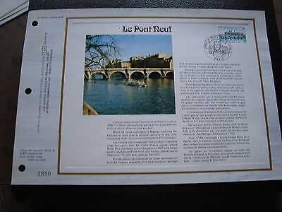FRANCE - doc CEF 1st day 27/5/1978 (the bridge new)(P2)(spots of yellowed)