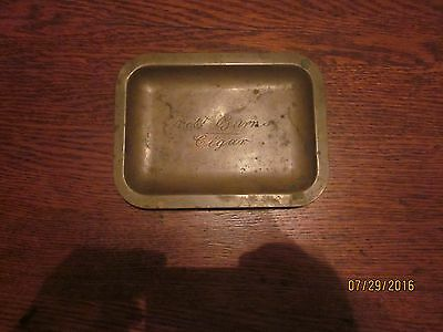c.1930 Robert Burns Yellow Bronze Cigar Tray, worn used finish