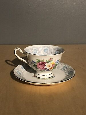 "ROYAL ALBERT CUP AND SAUCER ""FRAGRANCE"" Collection Rose & Floral Tea Set"