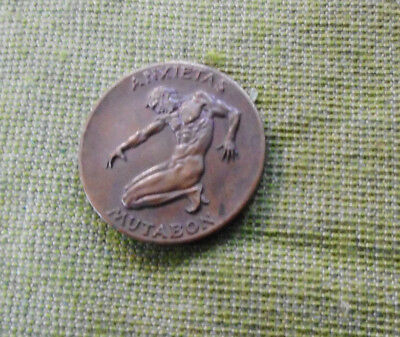 #d382.  Bronze Mutabon Medicine Medal - For Depression & Anxiety