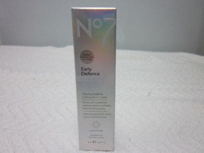 Boots No7 Early Defence Glow Activating Serum 30 mL/1 fl oz~ Brand New in Box