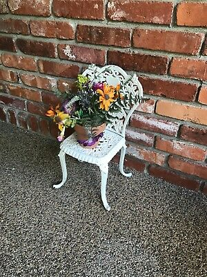Vintage Cast Iron Small Chair Child Doll Outdoor