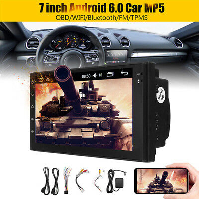 "2 Din 7"" Android 6.0 +16GB Car MP5 Player Bluetooth Stereo TMPS WIFI OBD GPS"