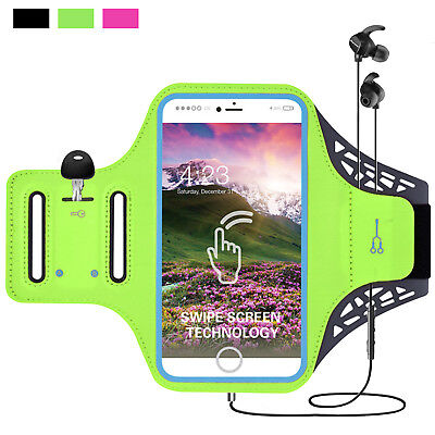 For Samsung Galaxy S8/S9 Plus/S7 Armband Sports Running Jogging Gym Arm Band Bag