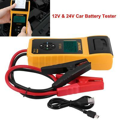 12V 24V Car Truck Battery Tester Digital Cranking Test Scan Analyzer w/ Printer