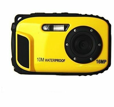 "ETTG BP88r Camera Waterproof Digital Video 2.7"" TFT Screen 5mp Underwater Yellow"