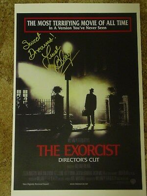 LINDA BLAIR Signed The Exorcist 11x17 Movie Poster Regan Autograph