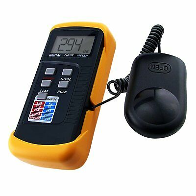 LX1330B Digital LCD Light Level Lux Meter 200,000 Lux Foot Candle FC Photo