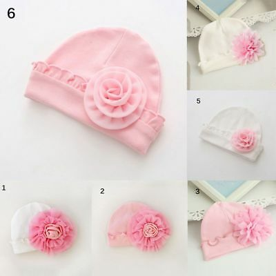 New Infant Baby Girls Autumn Hats Toddler Flower Hat Newborn Cotton Soft Cap Hat