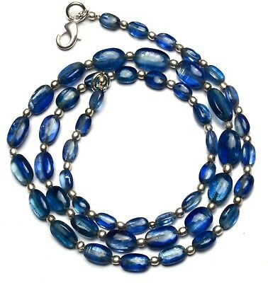 """Natural Gem Kyanite 7x5 to 11x7MM Smooth Nuggets 103Cts. Finished Necklace 20.5"""""""