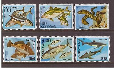 Cape Verde MNH 1980 Fish ,Fishing set mint stamps