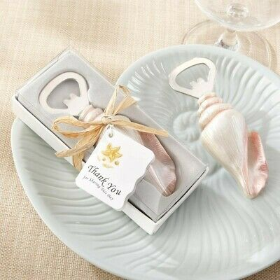 50 Beach Shell Bottle Openers Wedding Bridal Shower Birthday Party Gift Favors