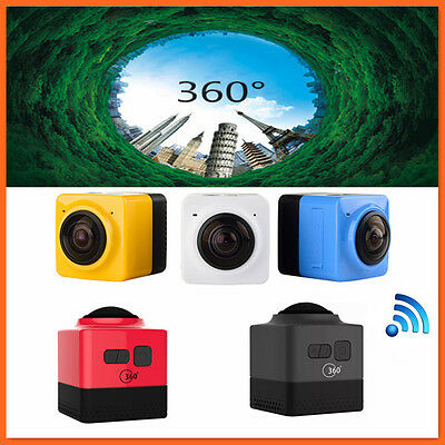 Mini Sports Action Cameras CUBE 360 degree Camera Panoramic VR Build-in wifi