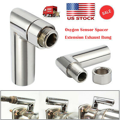 90 degree angled extender spacer O2 oxygen sensor 02 bung extension M18 X 1.5