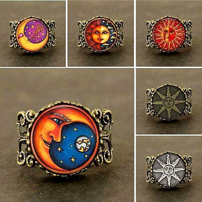 Adjustable Ring Wicca Pagan Knot Celtic Mystical Life Sun Moon Apollo Doctor Who