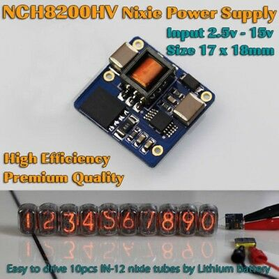 NCH8200HV High Voltage DC Power for Nixie Tubes 2.5-15v Universal Board Module