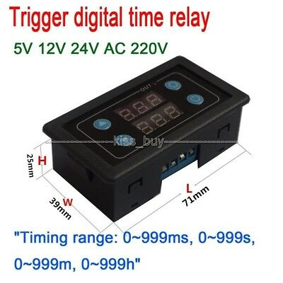 Trigger digital display time relay cylinder solenoid valve foot switch control